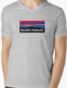 South Dakota Red White and Blue Mens V-Neck T-Shirt
