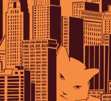 Cat in the Big City Sticker