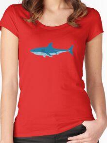 Shark Surfer funny nerd geek geeky Women's Fitted Scoop T-Shirt