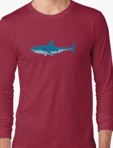 Shark Surfer funny nerd geek geeky Long Sleeve T-Shirt