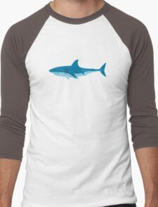 Shark Surfer funny nerd geek geeky Men's Baseball ¾ T-Shirt