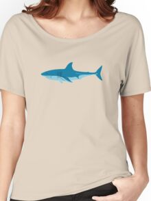 Shark Surfer funny nerd geek geeky Women's Relaxed Fit T-Shirt