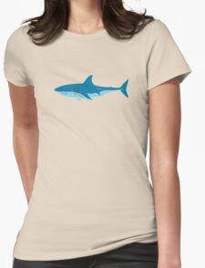 Shark Surfer funny nerd geek geeky Womens Fitted T-Shirt