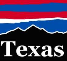 Texas Red White and Blue Sticker