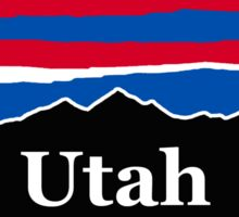 Utah Red White and Blue Sticker