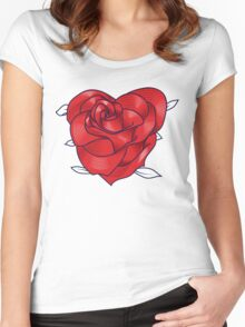Heart rose Women's Fitted Scoop T-Shirt