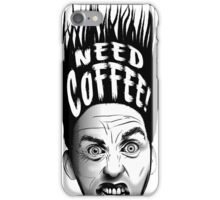 Need Coffee! Long Black version iPhone Case/Skin