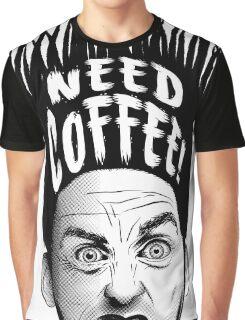 Need Coffee! Long Black version Graphic T-Shirt