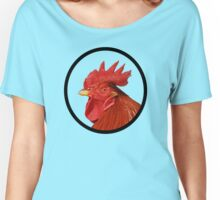 Rooster on green Women's Relaxed Fit T-Shirt