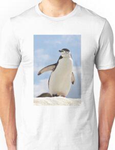 Chinstrap penguin keeps up appearances Unisex T-Shirt