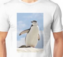 Chinstrap penguin keeps up appearances Unisex T-Shirt