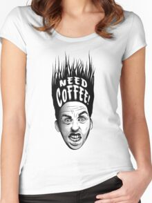 Need Coffee! Long Black version Women's Fitted Scoop T-Shirt