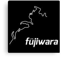 Initial D Fujiwara Nurburgring Sticker Parody Canvas Print