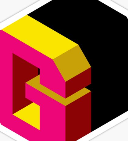 Letter G Isometric Graphic Sticker