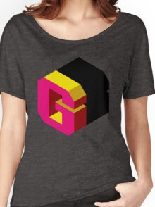 Letter G Isometric Graphic Women's Relaxed Fit T-Shirt