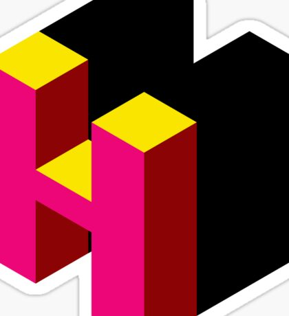 Letter H Isometric Graphic Sticker
