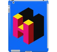 Letter H Isometric Graphic iPad Case/Skin
