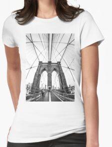 Brooklyn Bridge - NYC Womens Fitted T-Shirt
