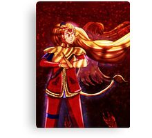 Dash Ruby and her Beast Side Canvas Print