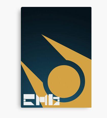 SImple HL2 Combine Poster - Blue & Gold Canvas Print