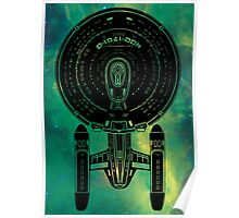 Star Trek Stencil - USS Enterprise-C Poster