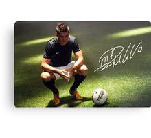 Ronaldo signature Metal Print