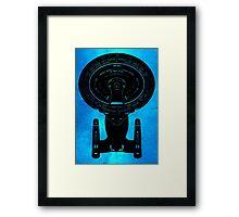 Star Trek Stencil - USS Enterprise-D Framed Print