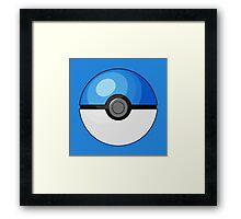 Blue Pokeball Framed Print