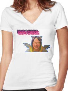 Brony Sanders Women's Fitted V-Neck T-Shirt