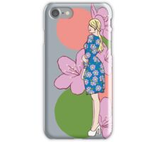 Young Lady with the Blossom Dress  iPhone Case/Skin