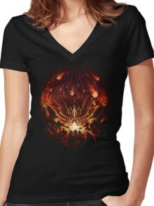Chrono Trigger: Fire Rains from the Heavens [Chronicles of Time] Women's Fitted V-Neck T-Shirt