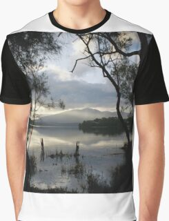 Wallaga Lake, Late Afternoon Misty Gulaga Mountain Graphic T-Shirt