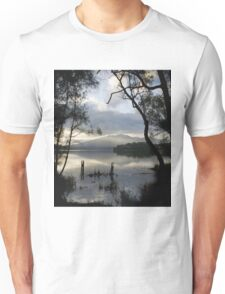 Wallaga Lake, Late Afternoon Misty Gulaga Mountain Unisex T-Shirt