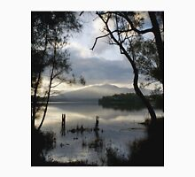 Wallaga Lake, Late Afternoon Misty Gulaga Mountain Women's Relaxed Fit T-Shirt