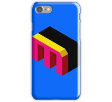 Letter M Isometric Graphic iPhone Case/Skin