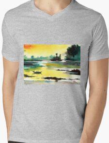 Good Evening 1 Mens V-Neck T-Shirt
