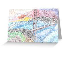 Golden Gate Bridge Zentangle Greeting Card