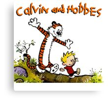 Calvin And Hobbes funny Canvas Print