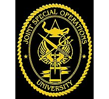 Joint Special Operations University Emblem Photographic Print