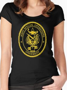 Joint Special Operations University Emblem Women's Fitted Scoop T-Shirt