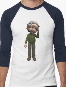 Albert Einstein Cartoon Men's Baseball ¾ T-Shirt