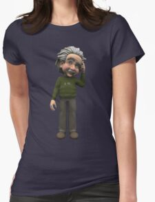 Albert Einstein Cartoon Womens Fitted T-Shirt
