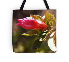 Pink flower bud Tote Bag