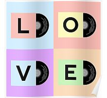 Vinyl cover with LOVE word Poster