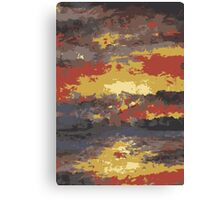 Abstract Sunset Water 1 Canvas Print