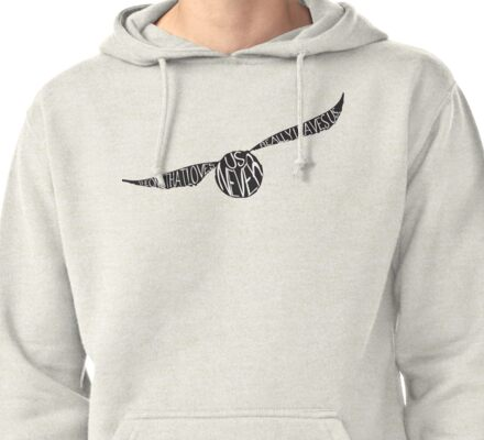 Snitch Typography Pullover Hoodie