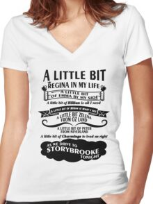 Oncer Song. OUAT Song. Women's Fitted V-Neck T-Shirt