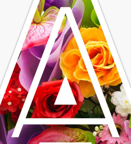 The Letter A - Flowers Sticker