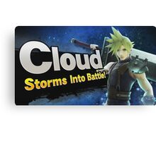 Cloud, Storms into battle! Canvas Print