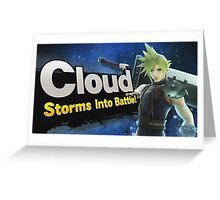 Cloud, Storms into battle! Greeting Card